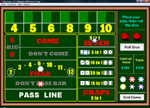 Click to view King Craps 1.0 screenshot