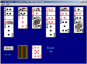 Golf Patience - Play a different type of solitaire cards.