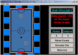 Click to view Air Hockey Deluxe screenshots