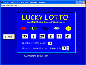 Click to view Lucky Lotto 2.0 screenshot